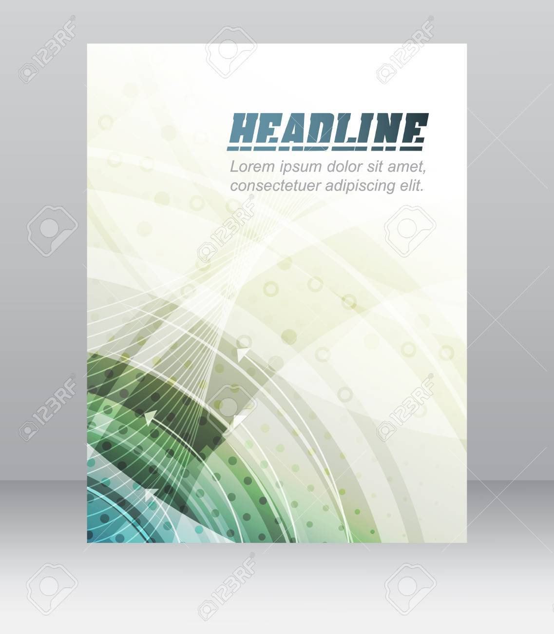 Modèle D Affaires Dépliant Brochure Conception De La Couverture Un Dossier Ou Bannière De L Entreprise Avec Une Structure Technologique