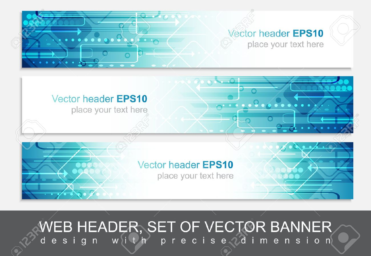 website header or banner vector abstract design template with