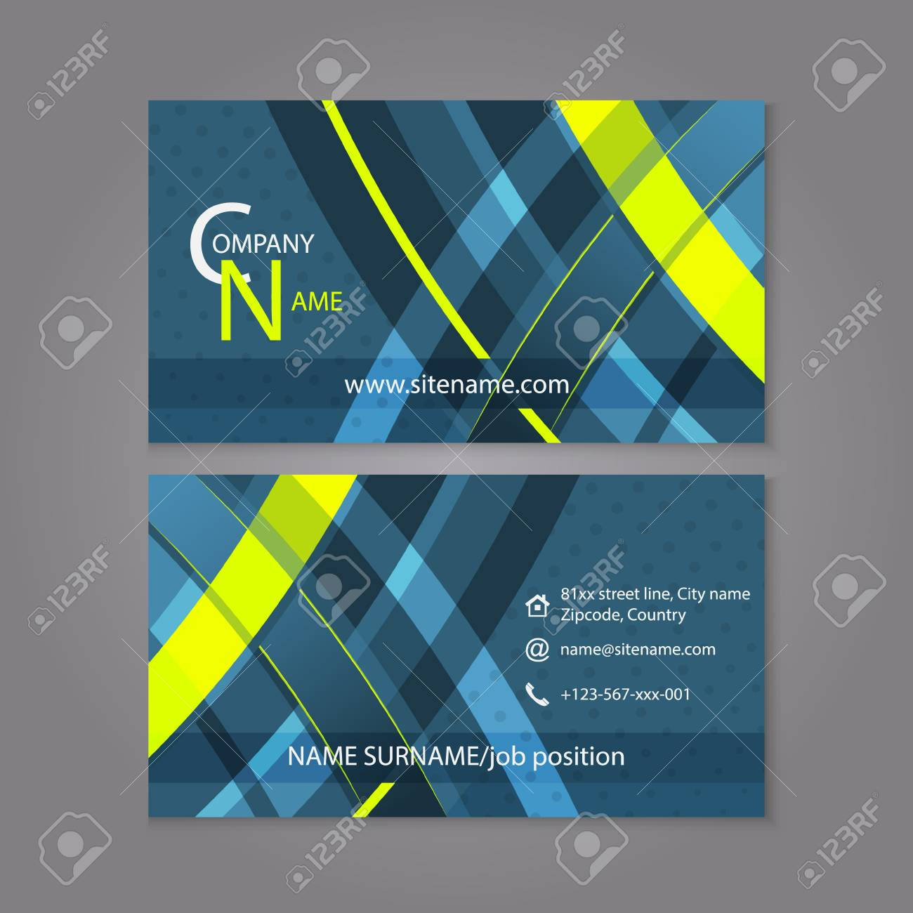 Professional business card template design editable vector professional business card template design editable vector illustration for company or individual presentation stock flashek Choice Image