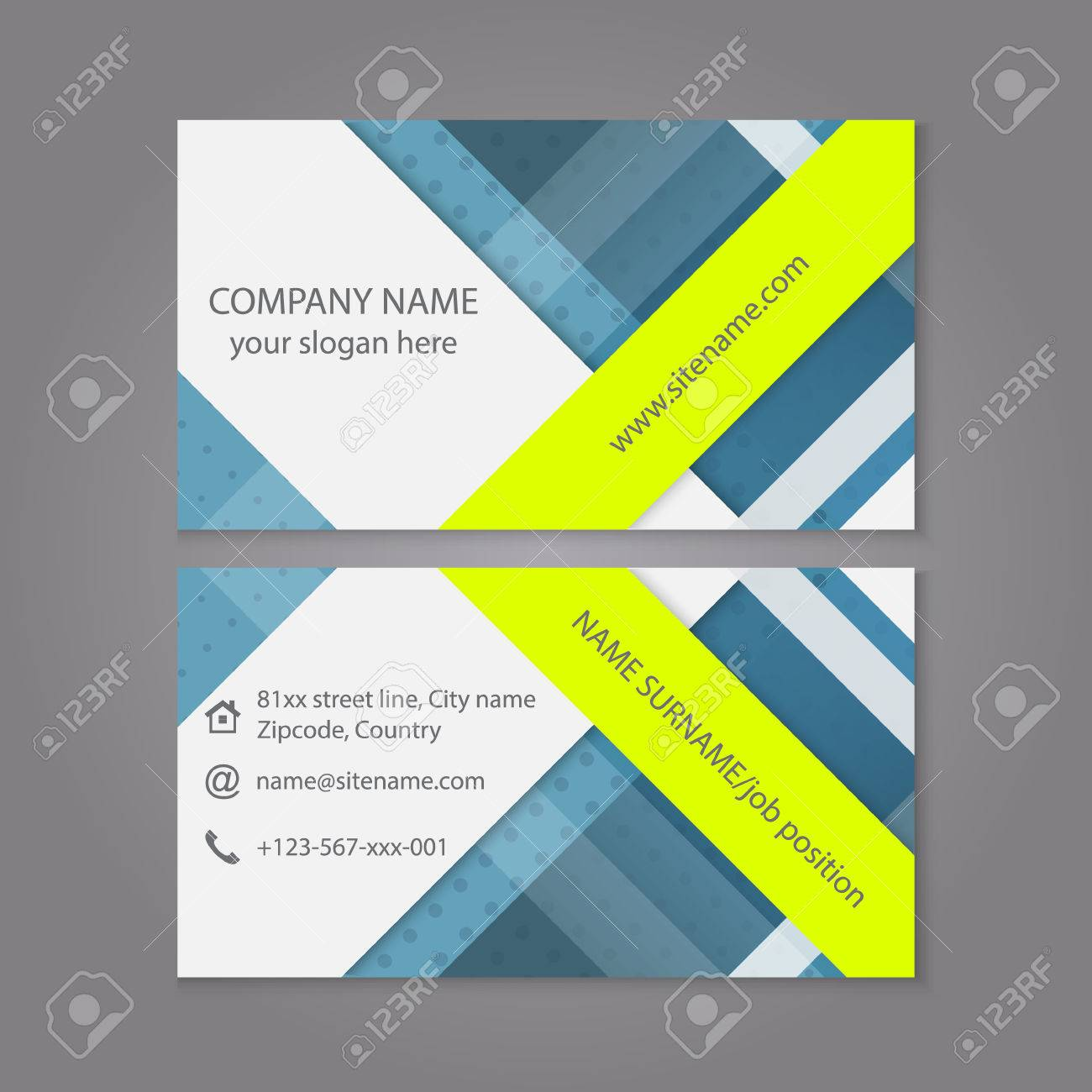 Modern simple business card template or visiting card set design modern simple business card template or visiting card set design for publishing print and colourmoves