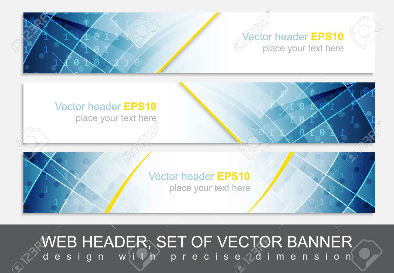 set of web header footer or banner design for your creative