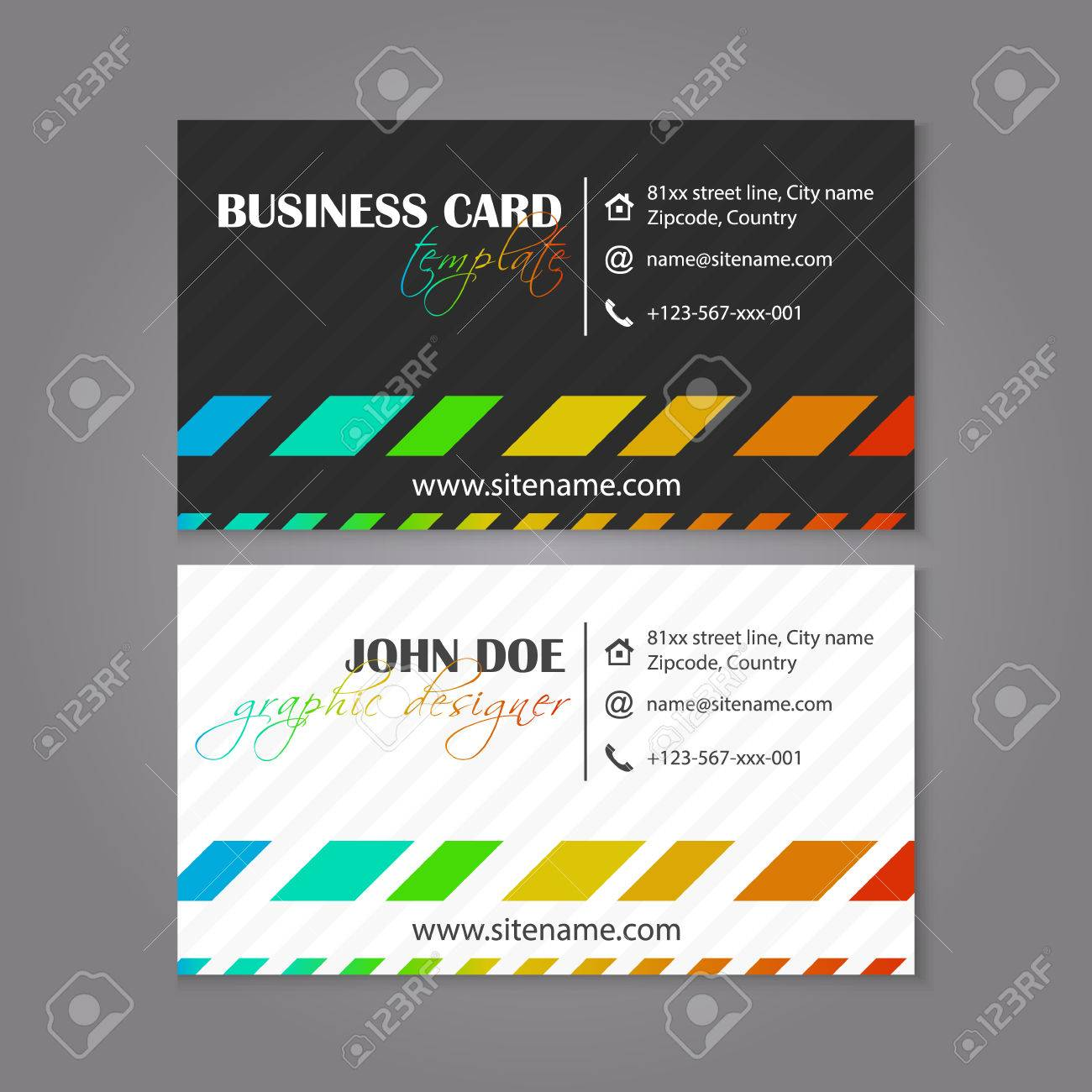 Business card template coloruful design for individual or business business card template coloruful design for individual or business presenation vector illustration stock vector friedricerecipe Gallery