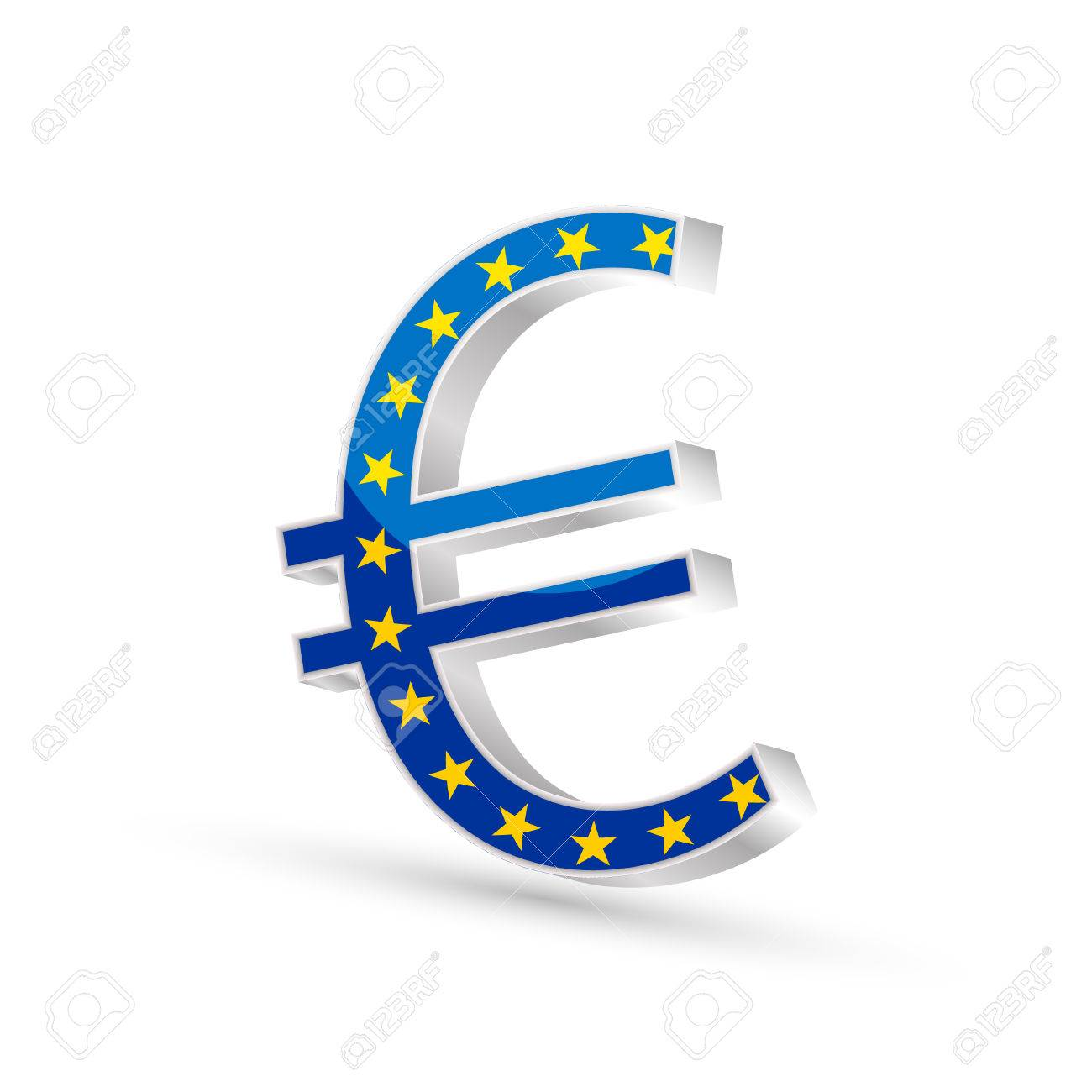 Euro currency gold symbol icon with flag of european union 3d euro currency gold symbol icon with flag of european union 3d vector illustration stock vector biocorpaavc Images