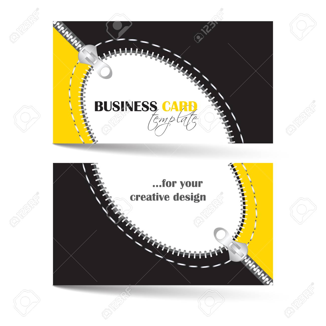 Modele De Carte Visite Creative Avec Zip Arc Peut Etre Utilise