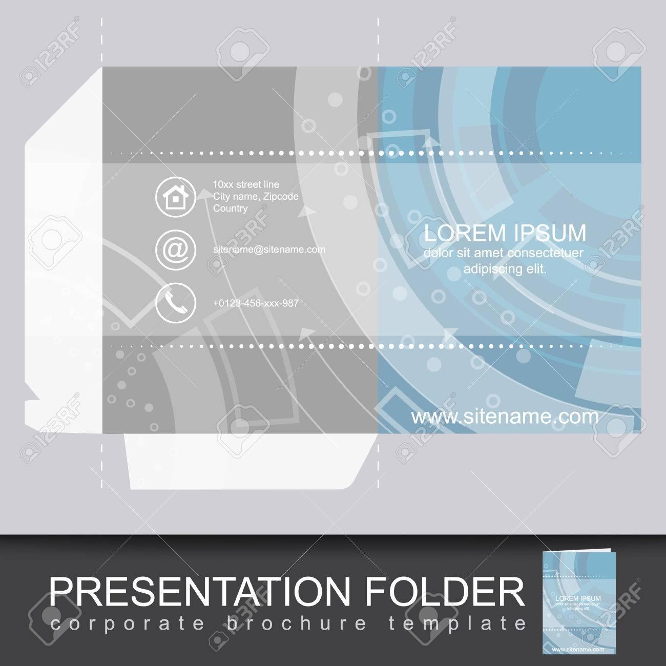 Presentation corporate folder template with die cut design vector presentation corporate folder template with die cut design vector illustration stock vector 45349625 flashek Gallery