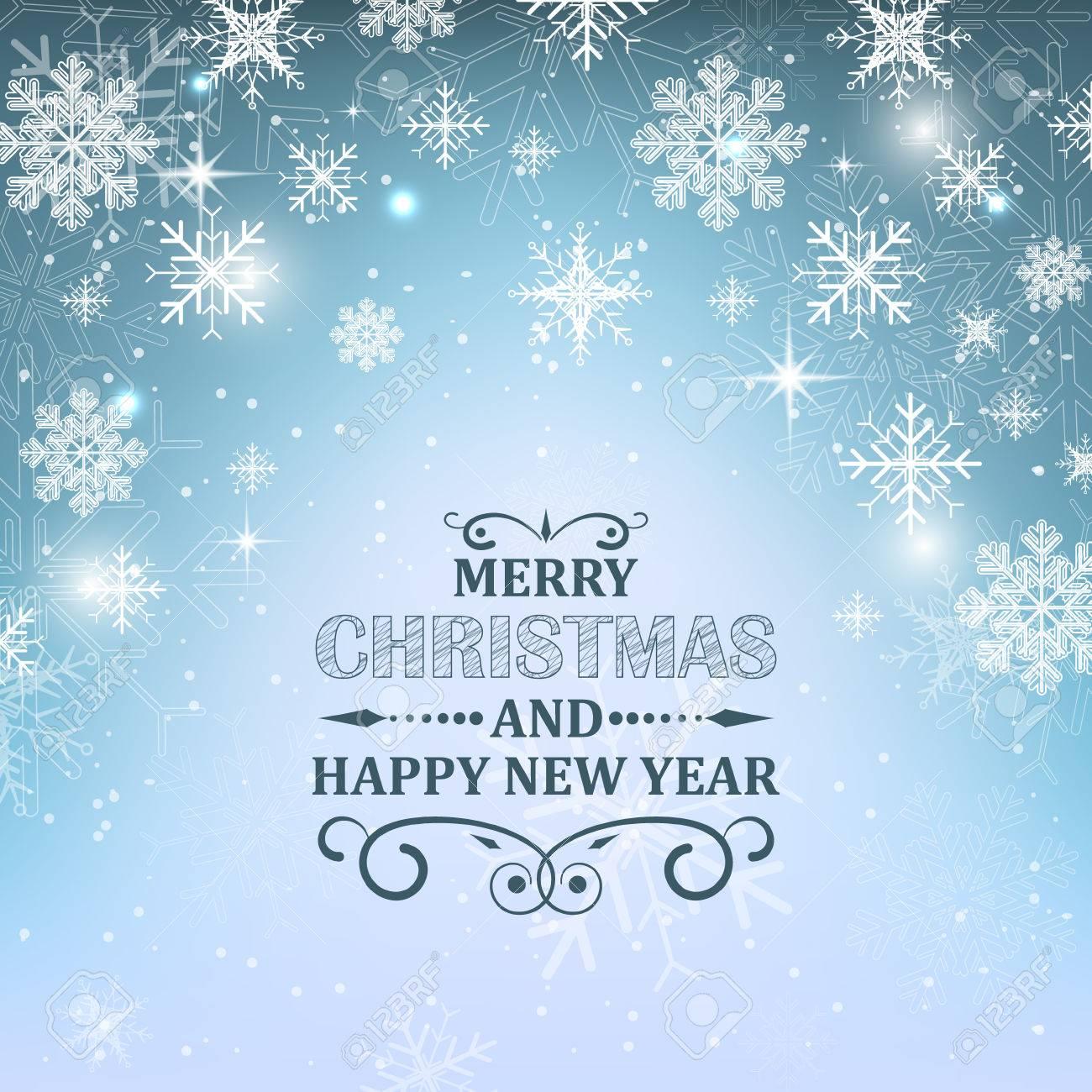 Weihnachten Wallpaper Hintergrund. Glühende Blaue Vektor ...