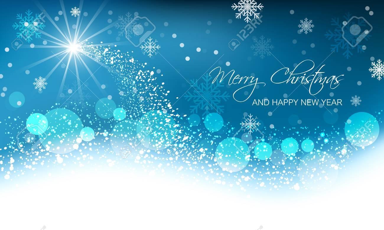 Abstract Vector Weihnachtskarte, Schnee Welle, Leuchtenden Sterne ...