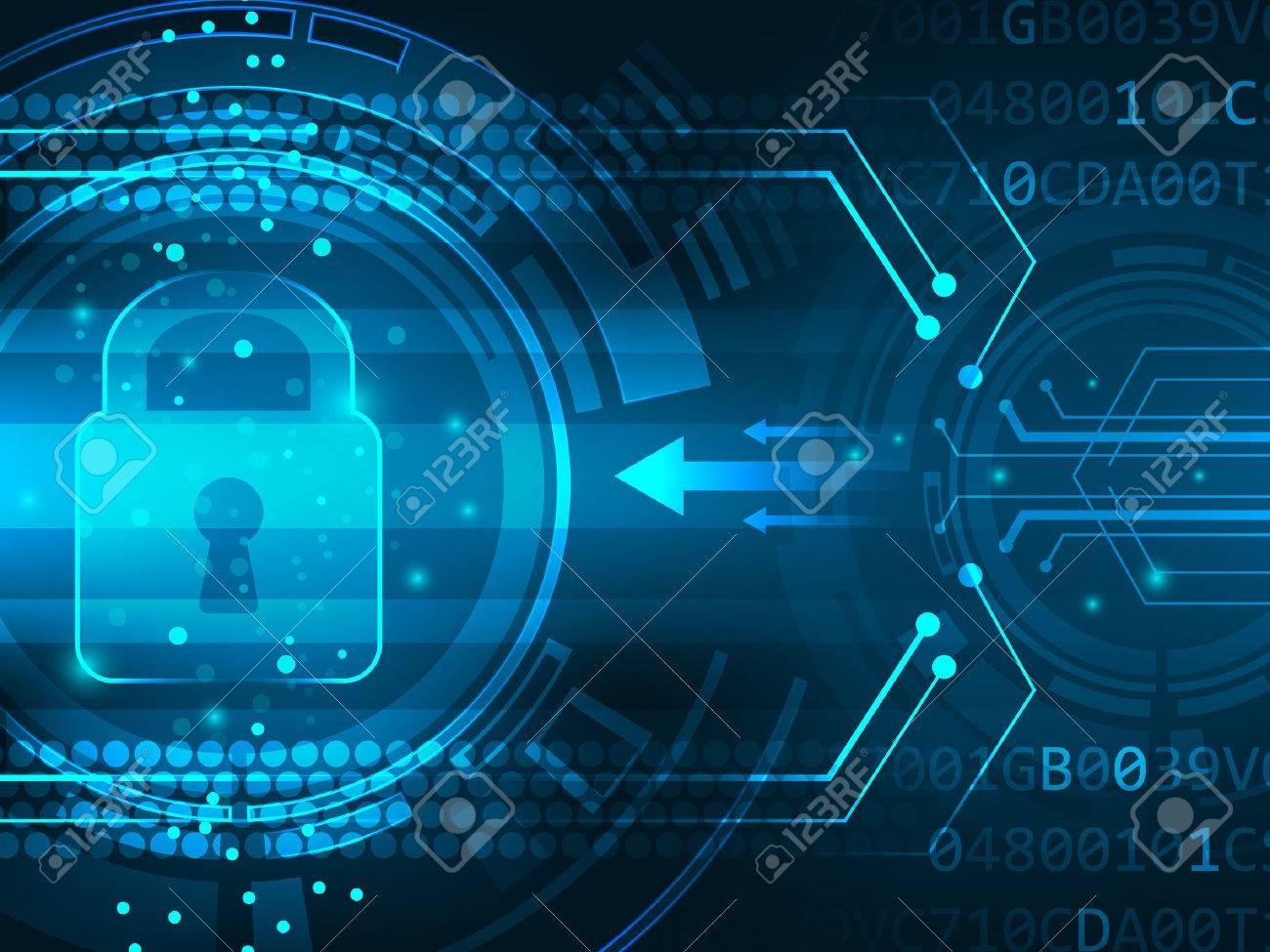 Global security service futuristic background innovation. Vector illustration. - 50917647