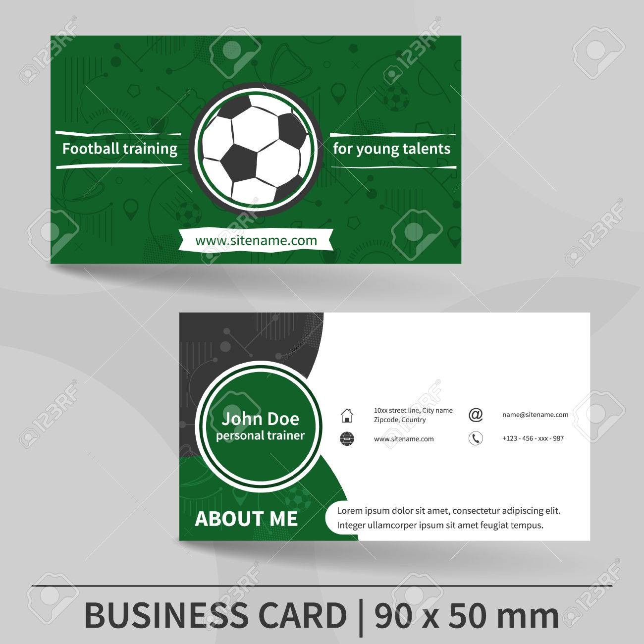 Examples of personal trainer business cards gallery free personal trainer business cards image collections free business business card template football training personal trainer business magicingreecefo Choice Image