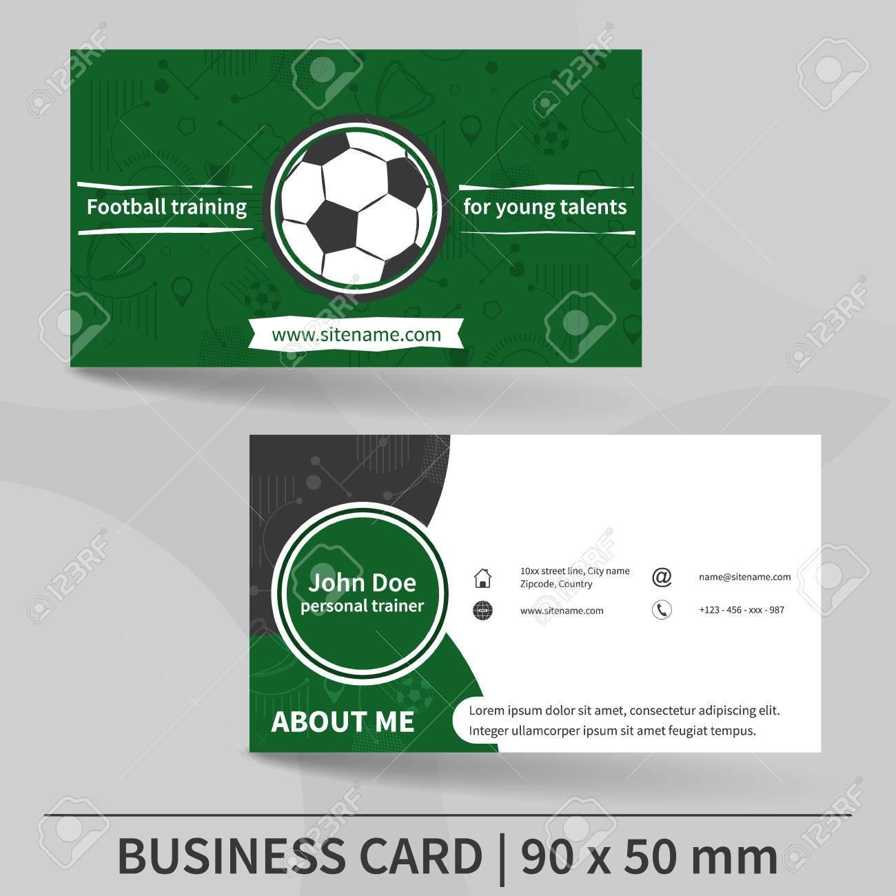 Modele De Carte Visite Entrainement Football Entraineur