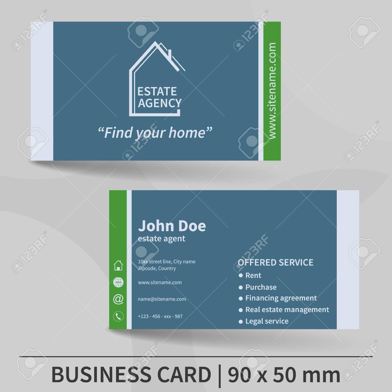 Modele De Carte Visite Agence Immobiliere Concevoir Pour Votre