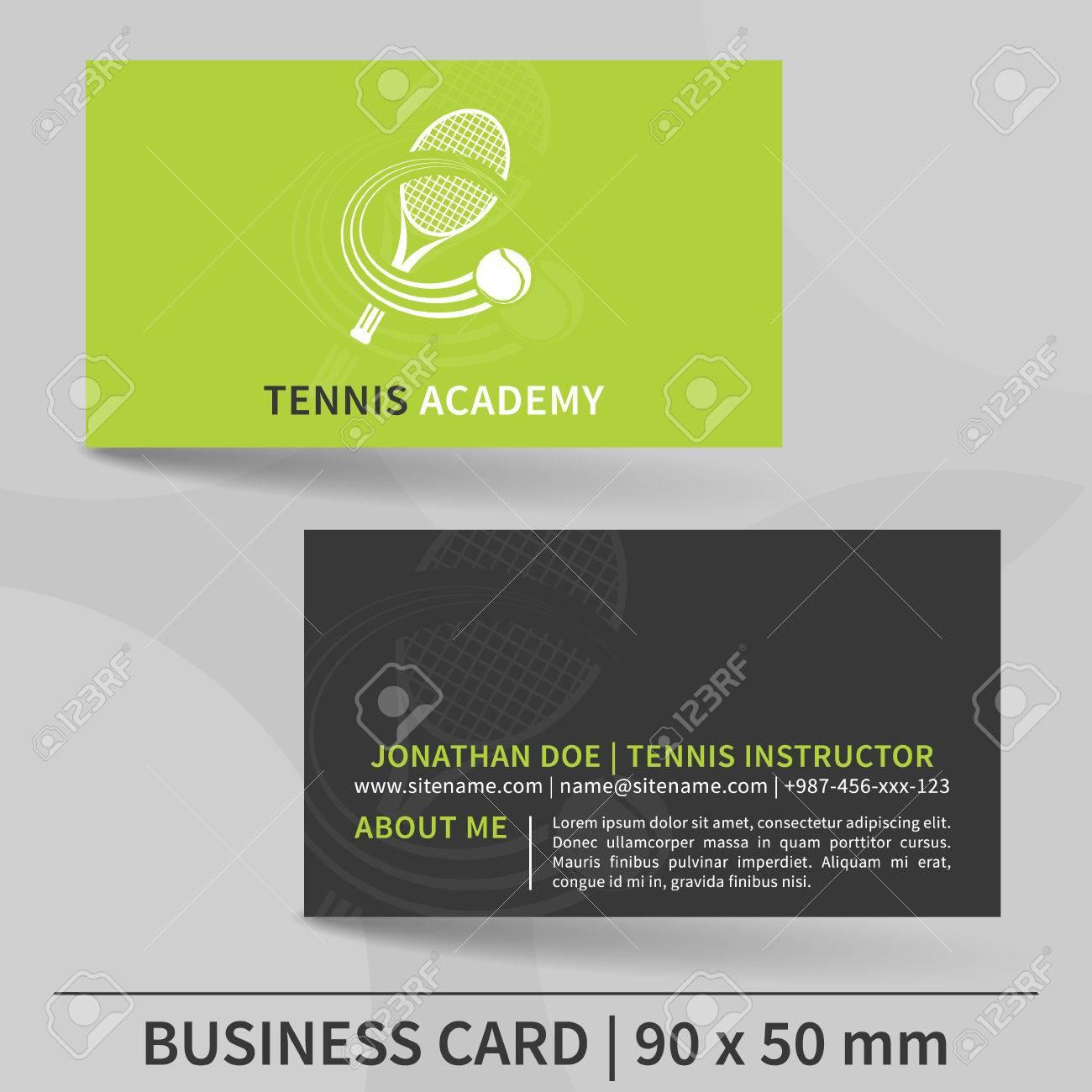 Modele De Carte Visite Pour Instructeur Tennis Concevoir