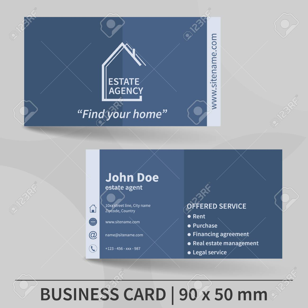 Business card template real estate agency design for your business card template real estate agency design for your individual or business presentation reheart Gallery