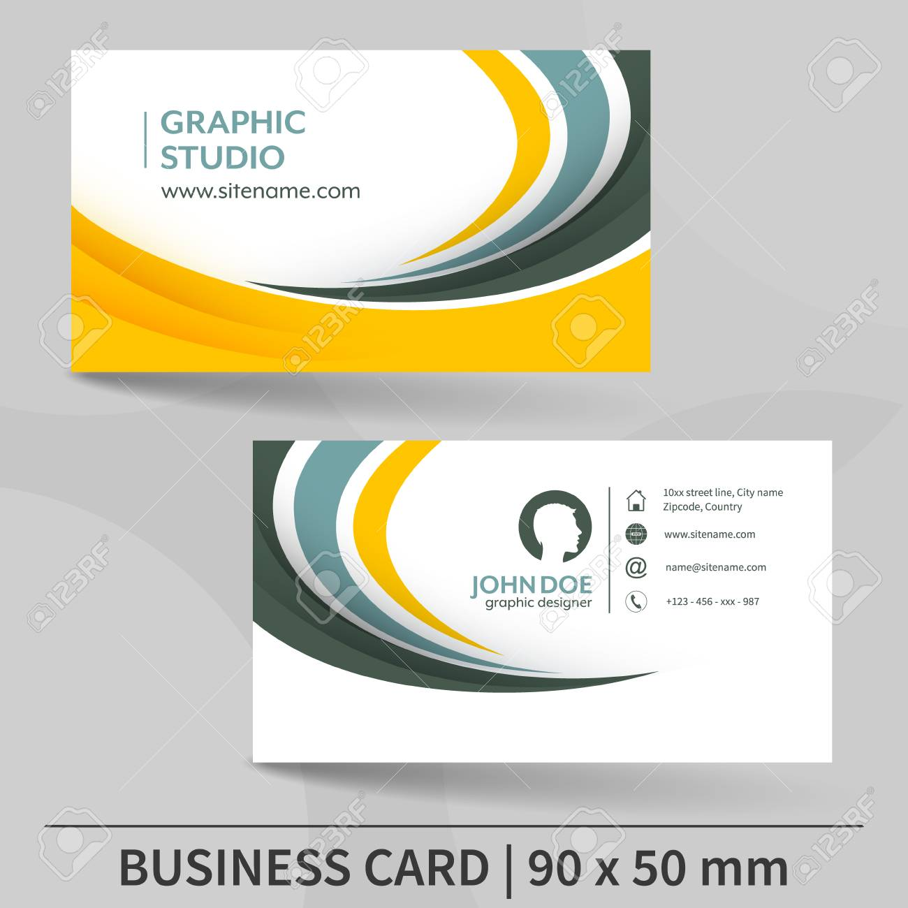 Business Card Template Design For Your Individual Or Business
