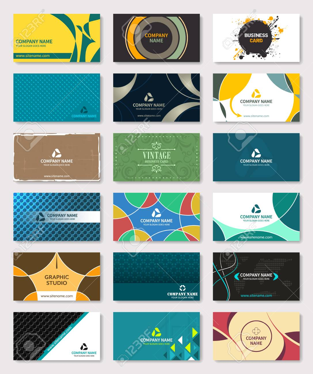 Set of creative business card bundle vector illustration royalty set of creative business card bundle vector illustration stock vector 86847489 reheart Images