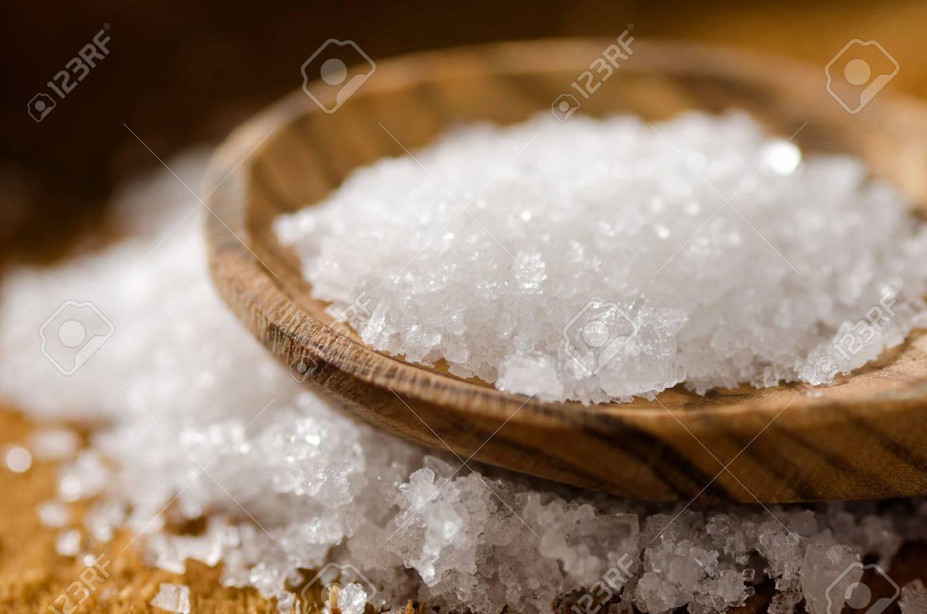 Close Up Of Sea Salt Fleur De Sel Stock Photo Picture And