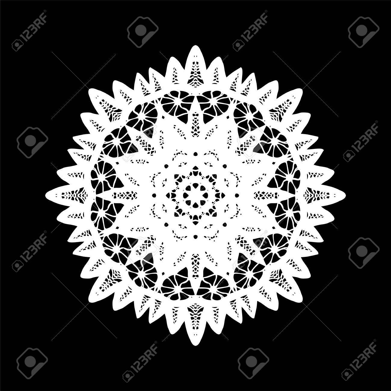 Kleedje Haken Decor Element Vector Illustratie Royalty Vrije
