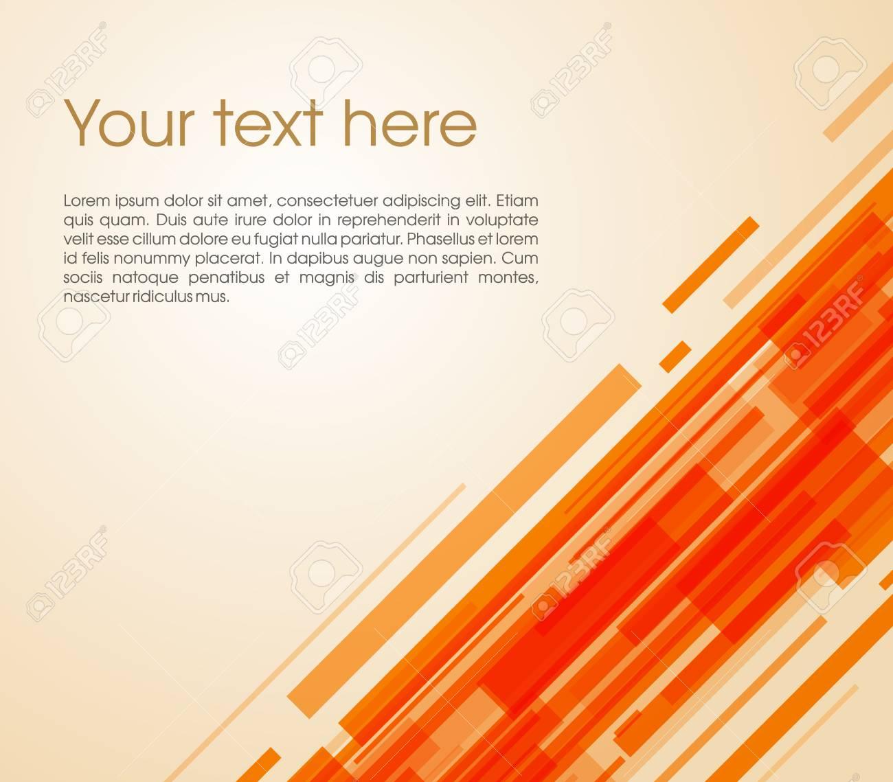Charmant Standard Bild   Vector Abstract Schrägen Rechteck Hintergrund In Orange  Farbe