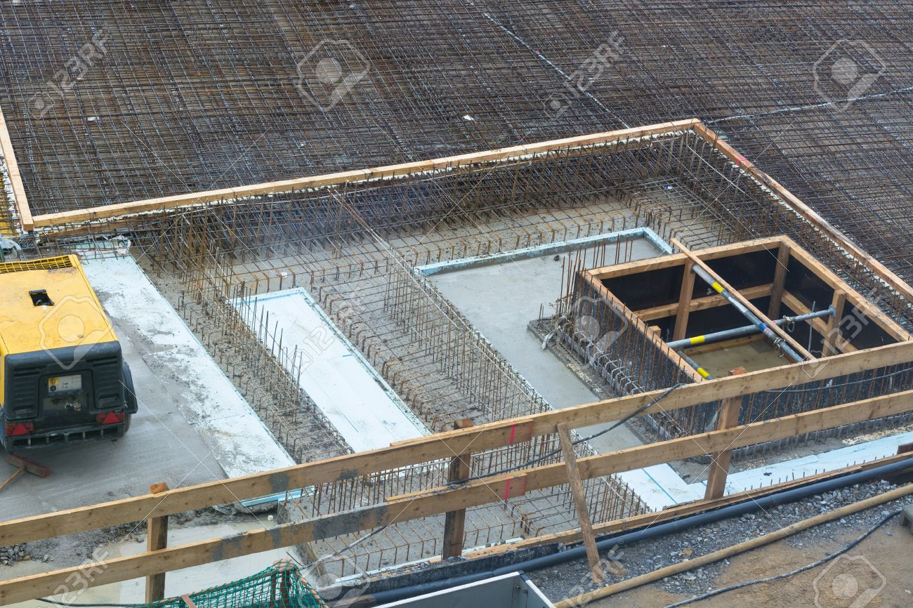 Underground Building Foundation Building Of Steel And Concrete For The Construction