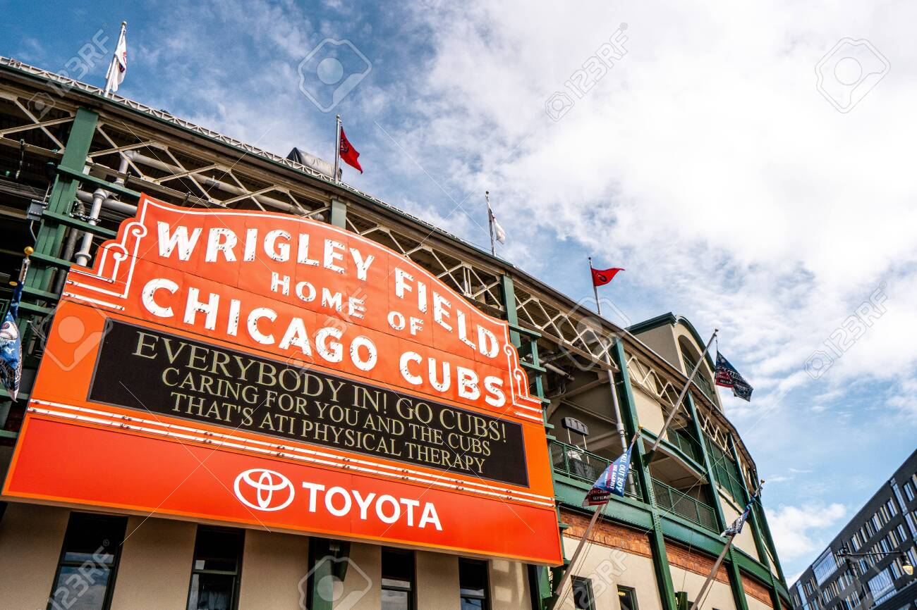 Wringly fields , the home of Chicago Cubs baseball team in Chicago , Illinois , United States of America - September 9 , 2018 - 136574654