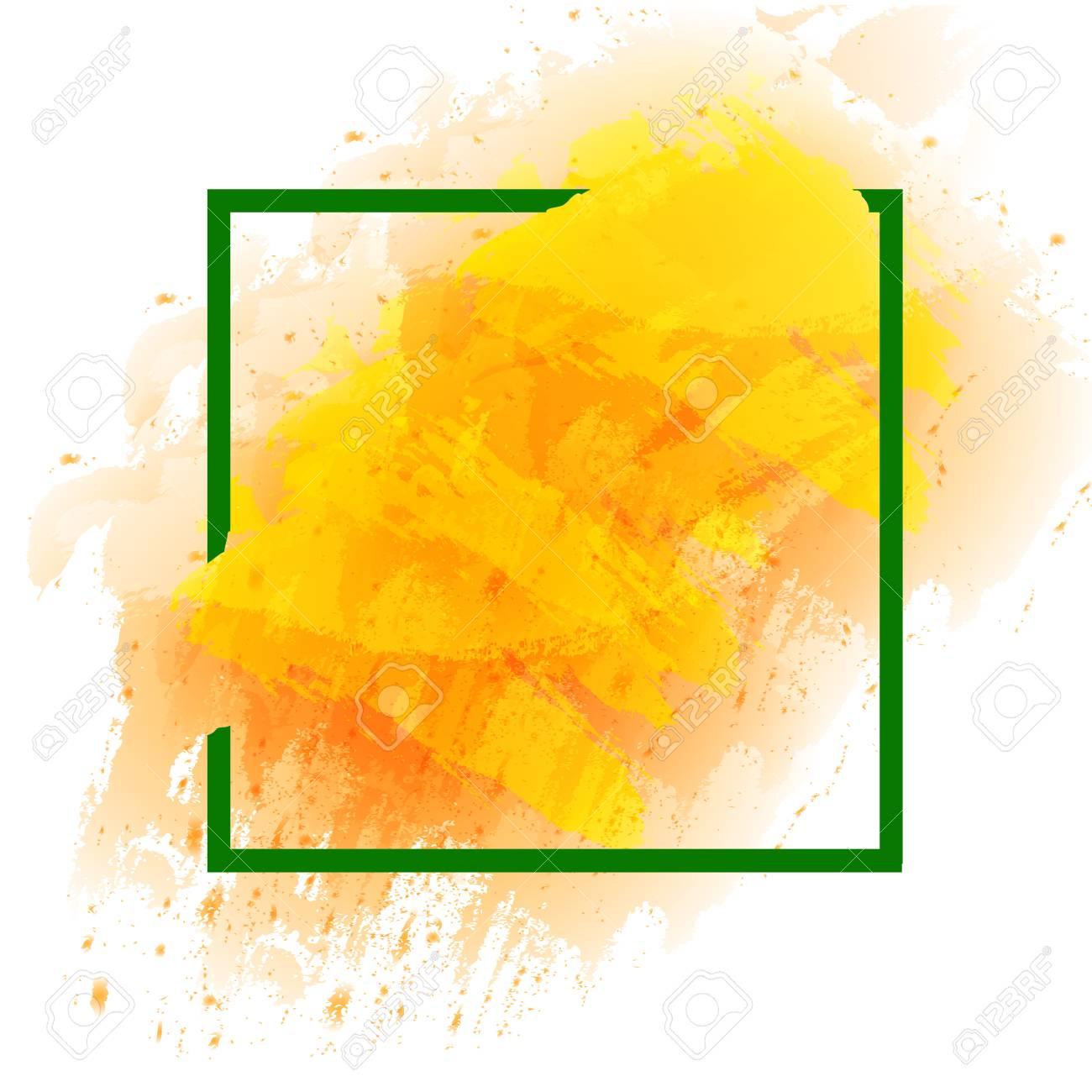 summer spring season colors frame modern border blank template