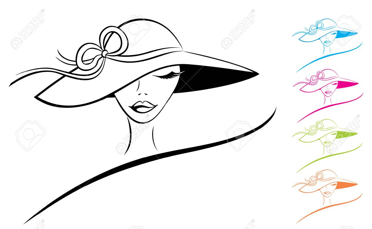 Woman in a Hat Stock Vector - 5188379