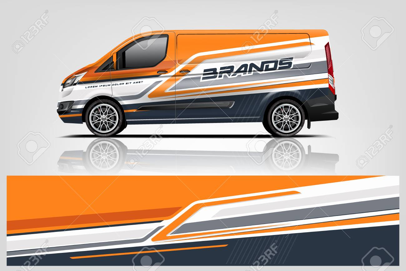 Van wrap design. Wrap, sticker and decal design for company. Vector format - Vector - 121081561
