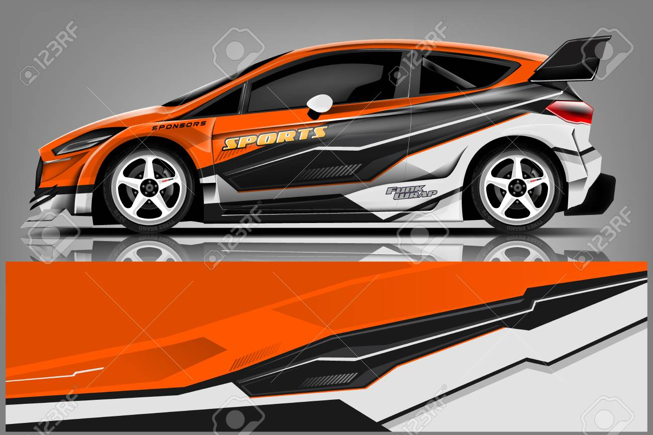 Car Decal Wrap Design Vector Graphic Abstract Stripe Racing Royalty Free Cliparts Vectors And Stock Illustration Image 121082095