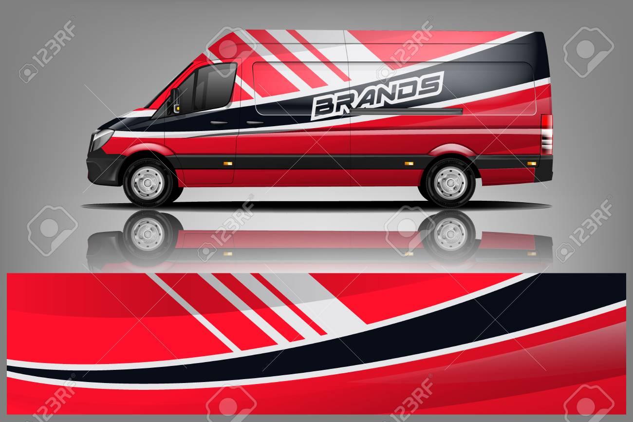 Van Wrap Livery design. Ready print wrap design for Van. - Vector - 121083081