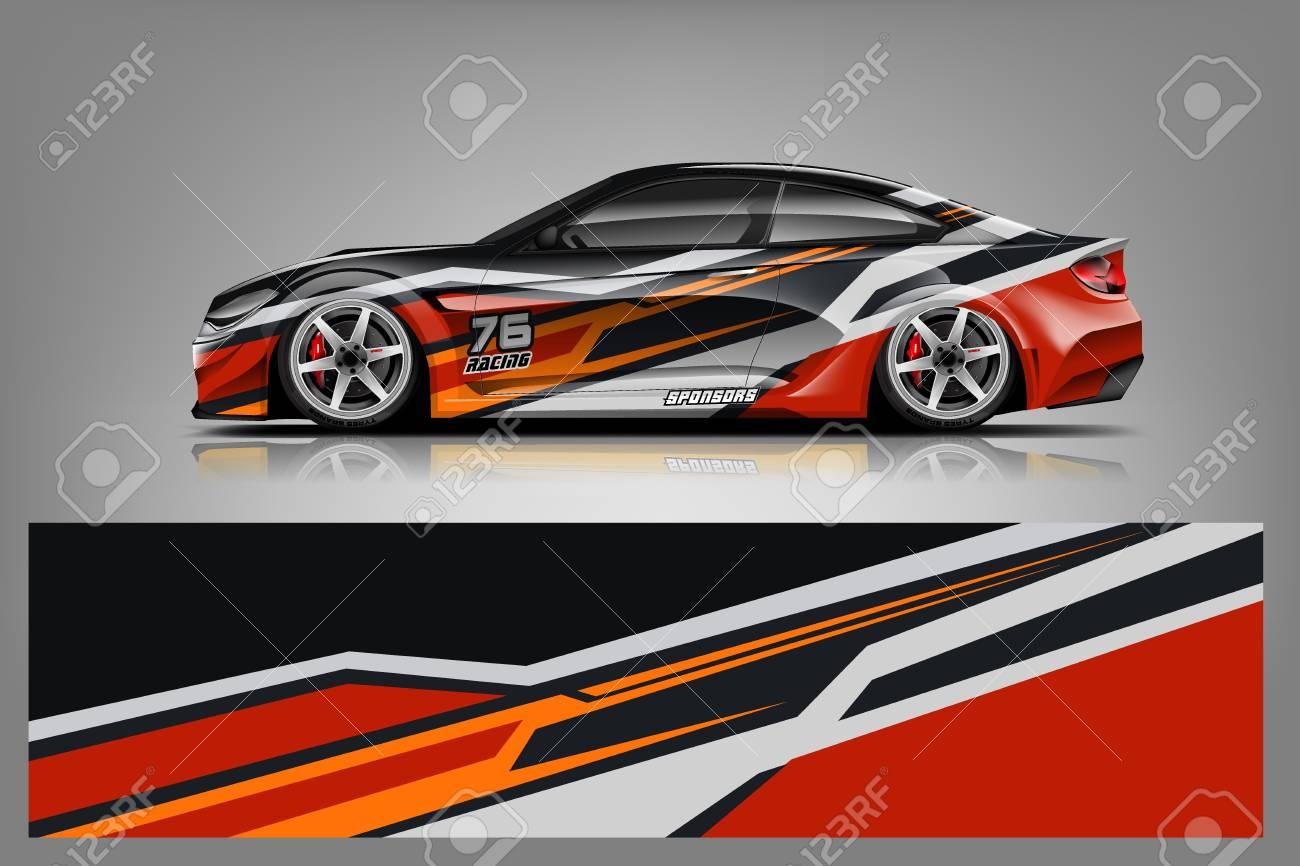 Sport car racing wrap design. vector design. - Vector - 125673161