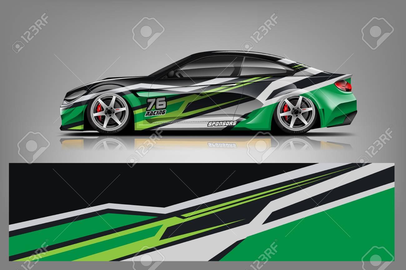 Sport car racing wrap design. vector design. - Vector - 125673162