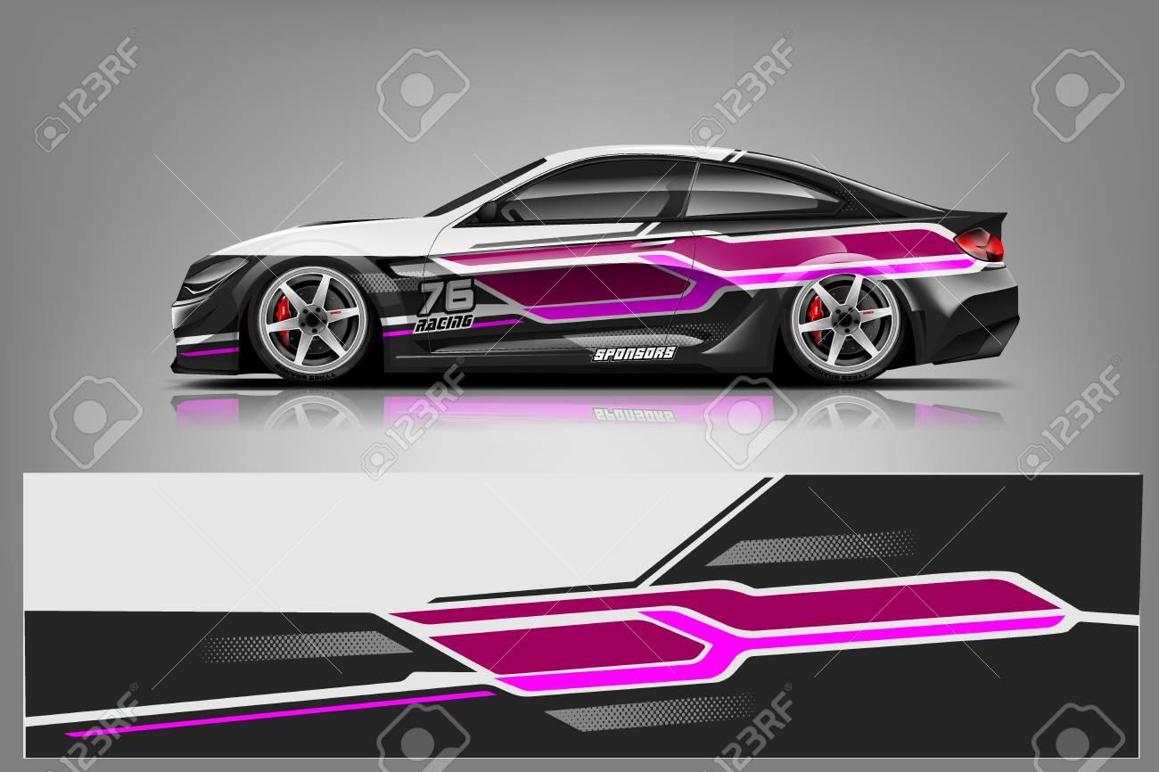 Sport car racing wrap design. vector design. - Vector - 125673257