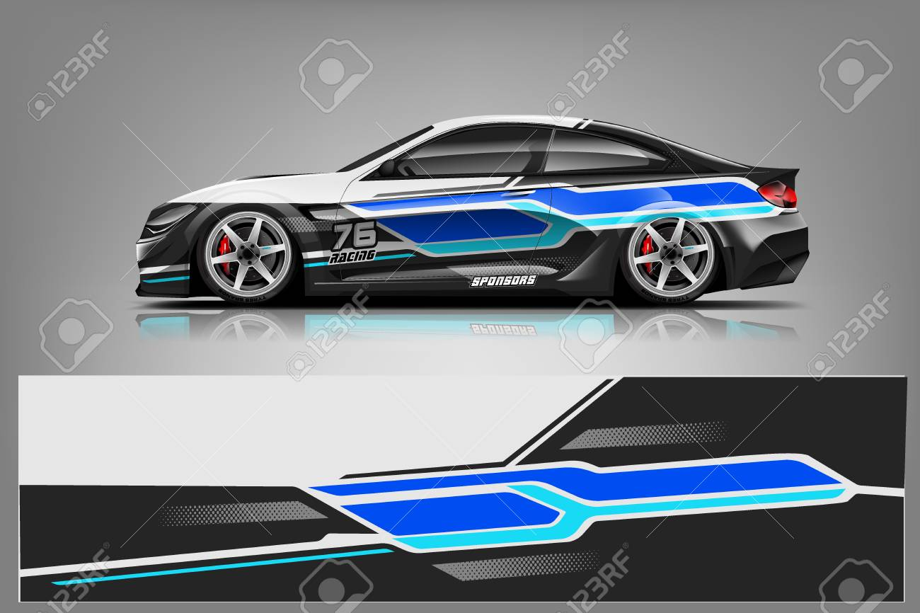 Sport car racing wrap design. vector design. - Vector - 125673260