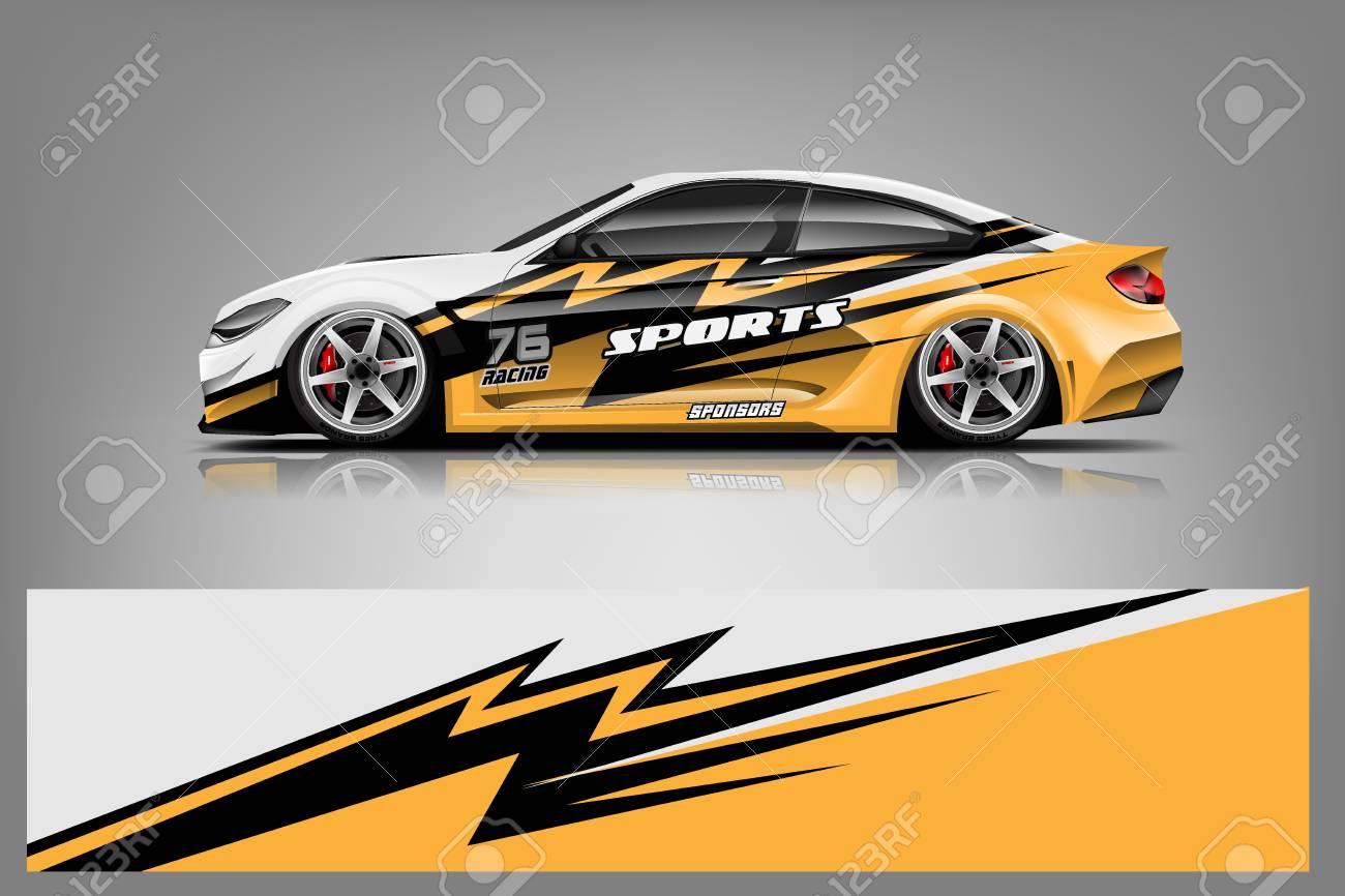 Sport car racing wrap design. vector design. - Vector - 125675650