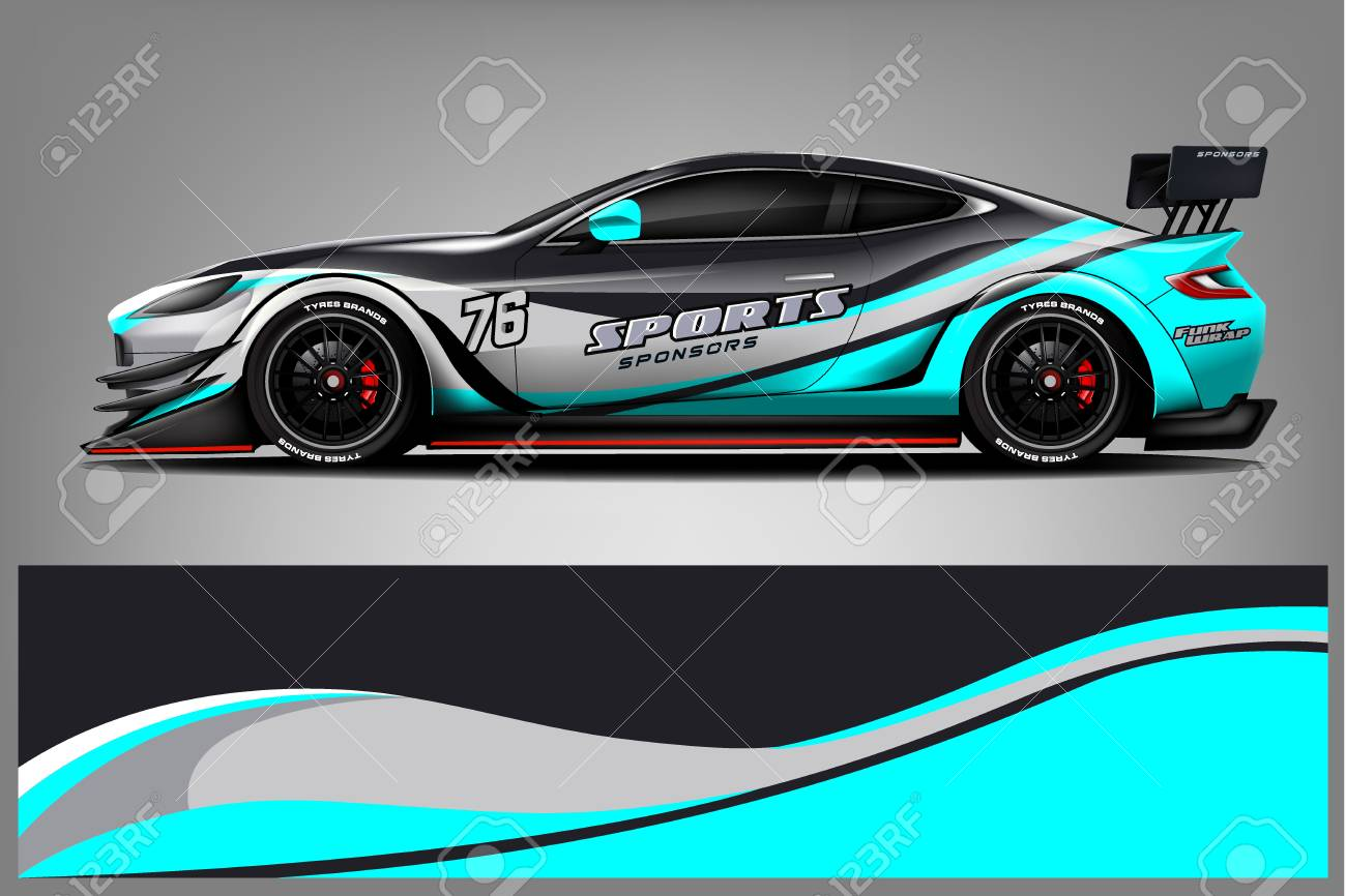 Car Decal Wrap Design Vector Graphic Abstract Stripe Racing Royalty Free Cliparts Vectors And Stock Illustration Image 124859641