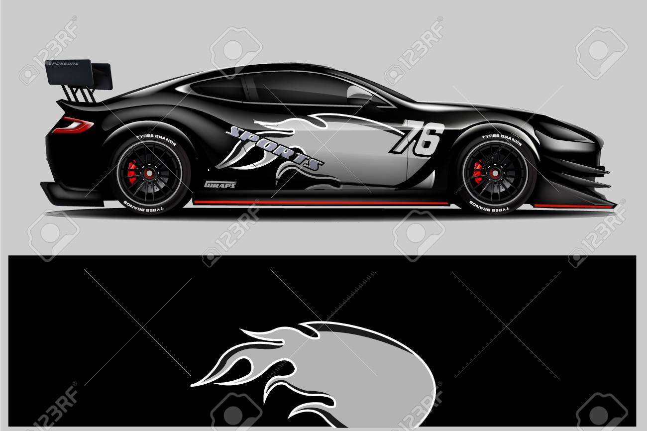 Car Decal Wrap Design Vector Graphic Abstract Stripe Racing Royalty Free Cliparts Vectors And Stock Illustration Image 124859875
