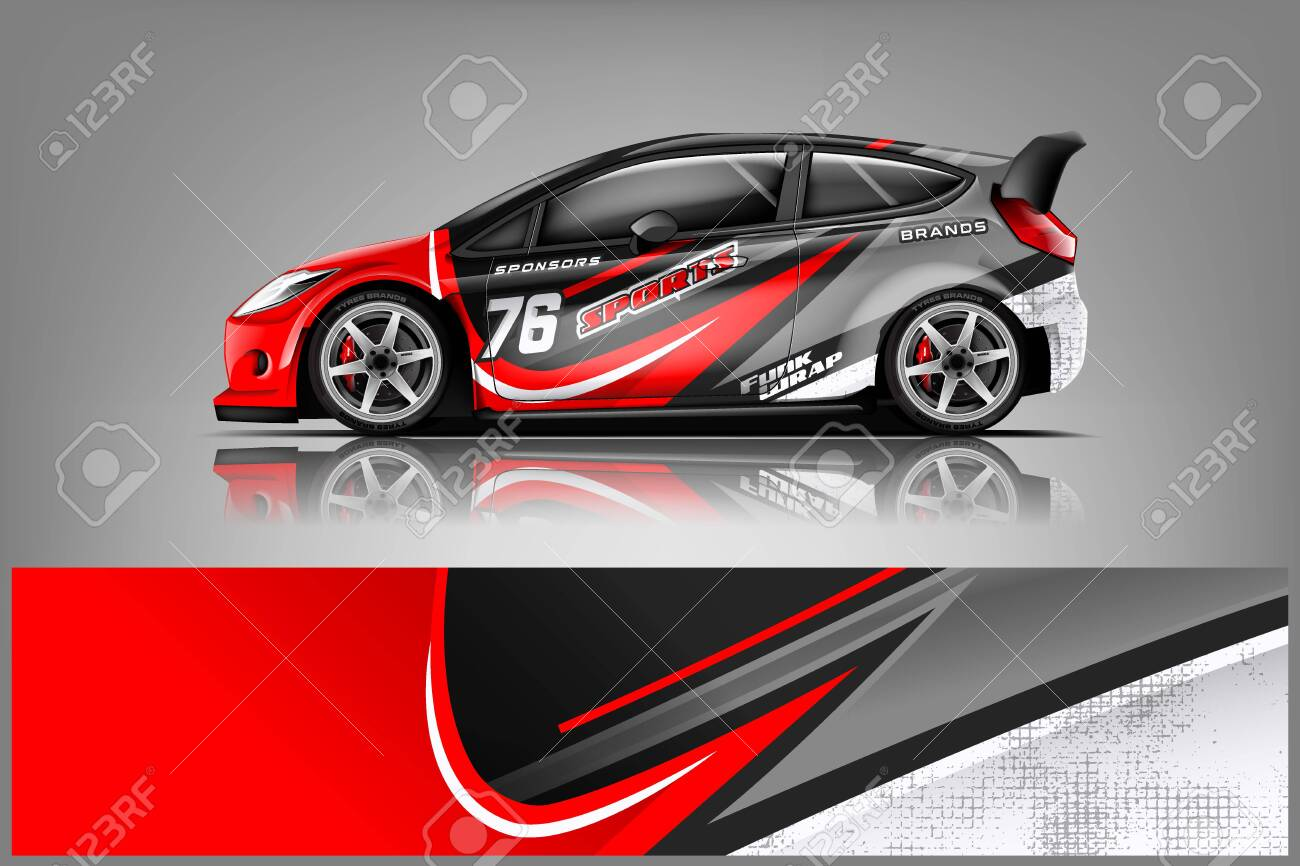 Car Decal Wrap Design Vector Graphic Abstract Stripe Racing Royalty Free Cliparts Vectors And Stock Illustration Image 125574400