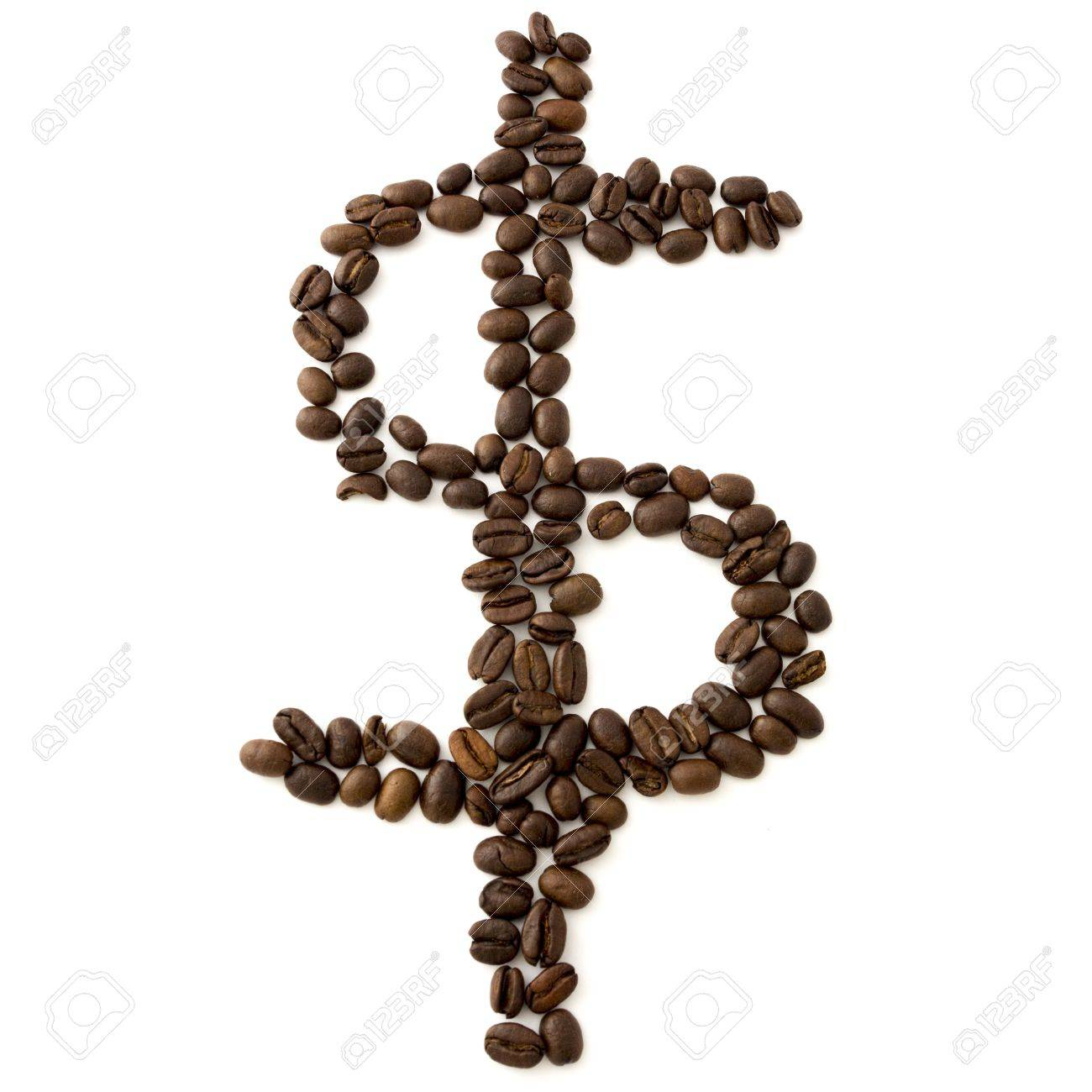 Coffee beans dollar sign Stock Photo - 17454590