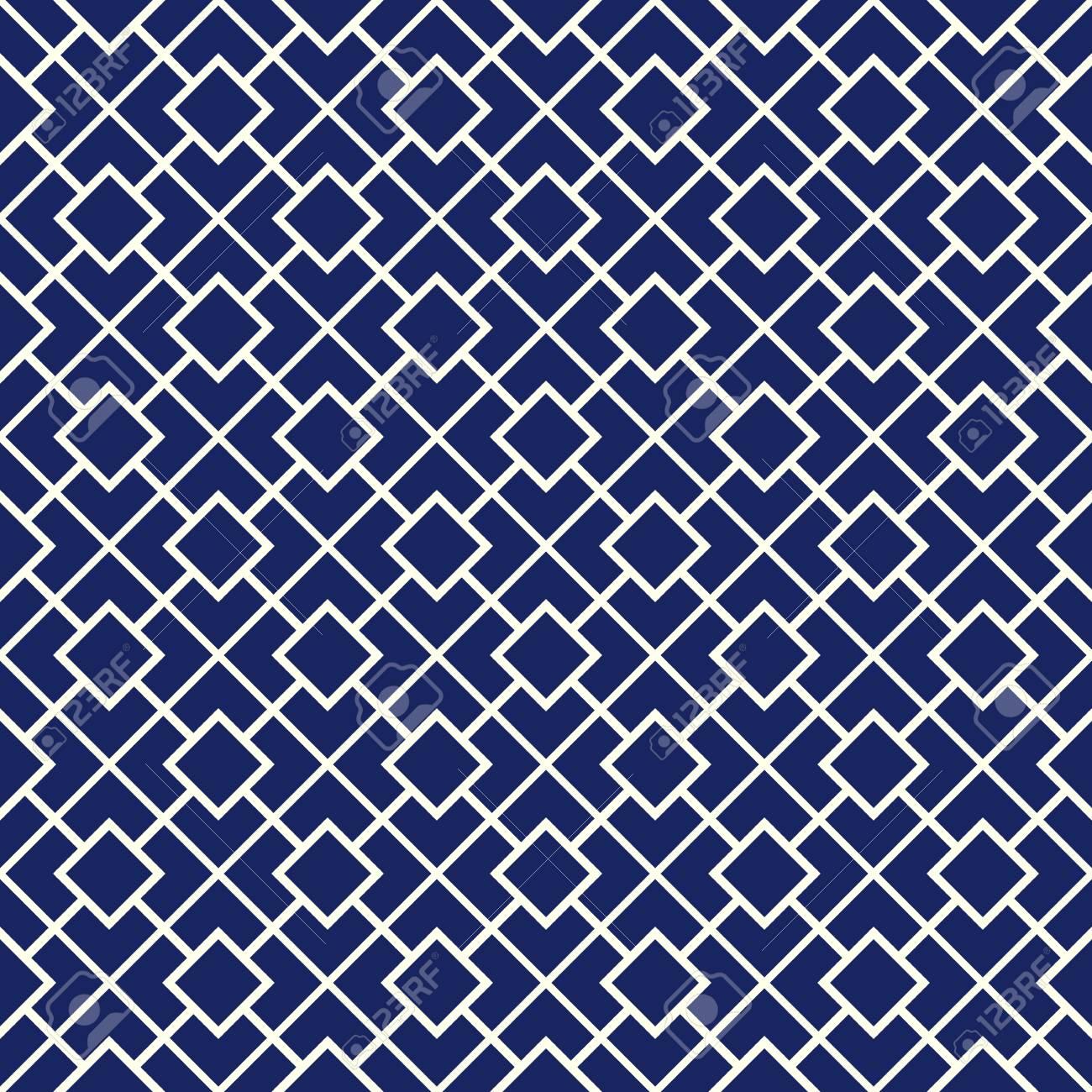 seamless avec ornement géométrique symétrique. couleur bleu marine