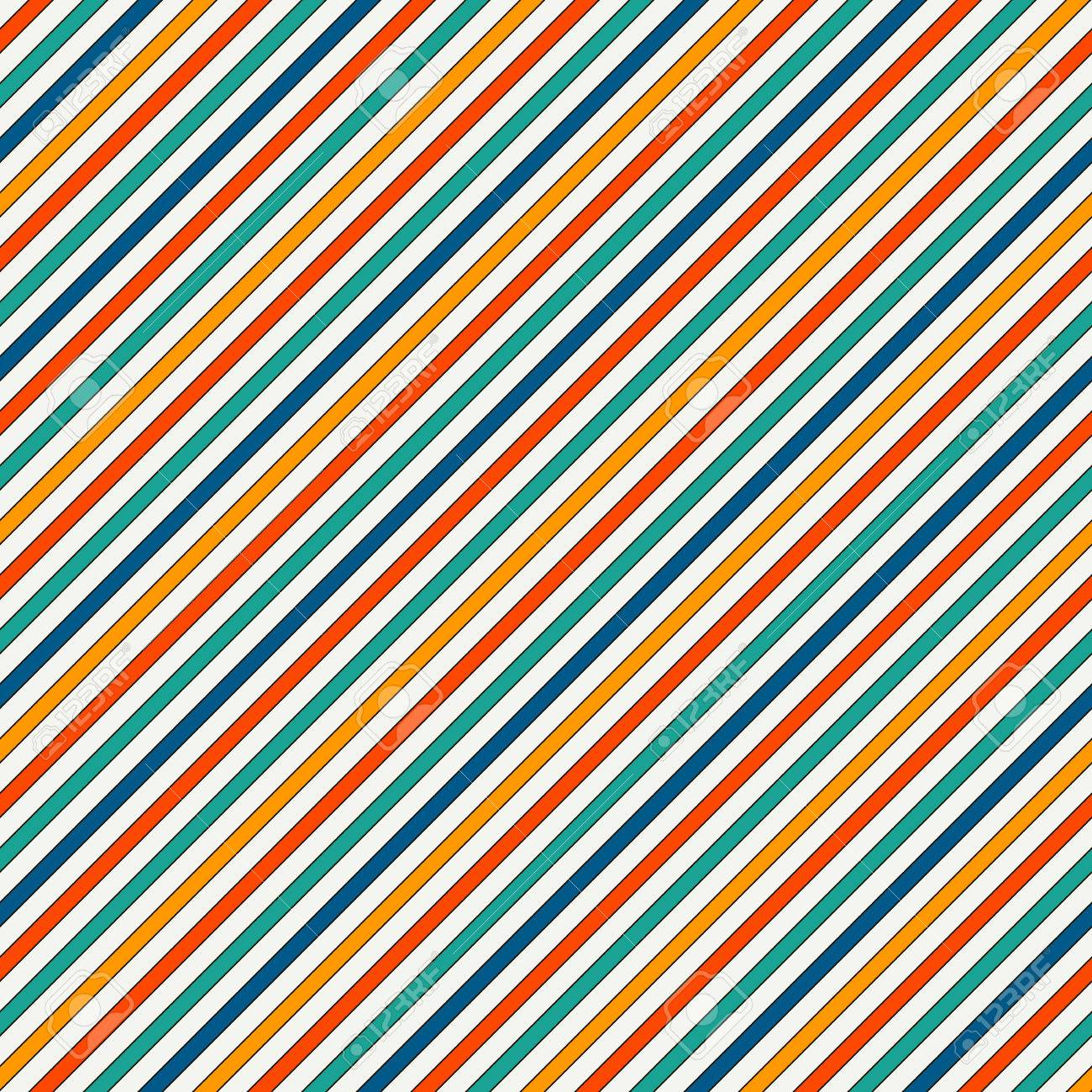 50ae2391 Vector - Vivid colors diagonal stripes abstract background. Thin slanting  line wallpaper. Seamless pattern with simple classic motif.