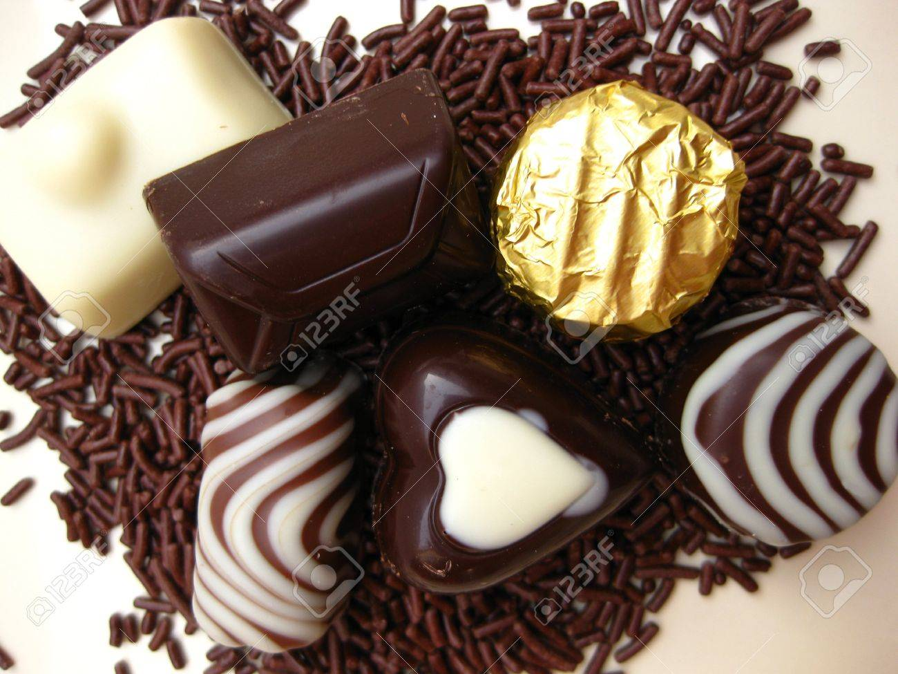 Belgium Chocolate Candies Stock Photo, Picture And Royalty Free ...