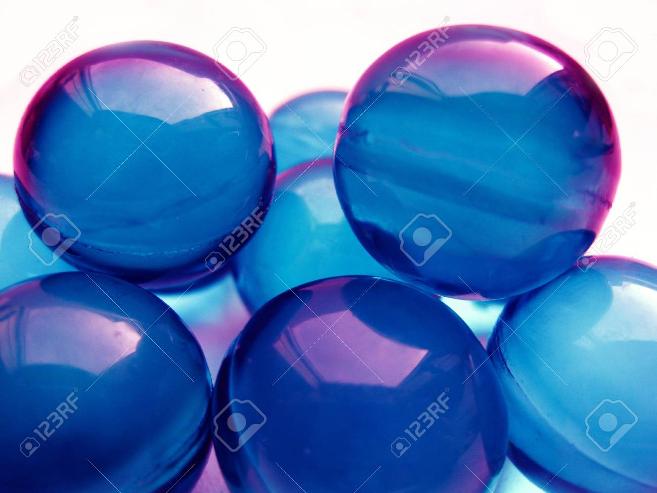 blue marbles Stock Photo - 4168330
