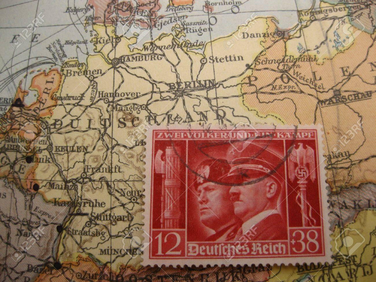Stamp on vintage map germany in world war ii stock photo picture stamp on vintage map germany in world war ii stock photo 4217321 gumiabroncs Image collections