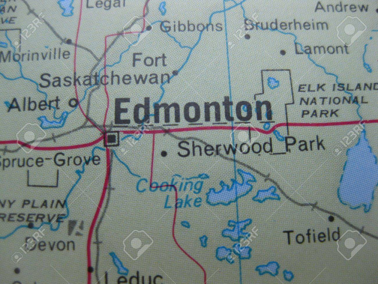 Map of edmonton canada stock photo picture and royalty free image map of edmonton canada stock photo 4801951 gumiabroncs Images