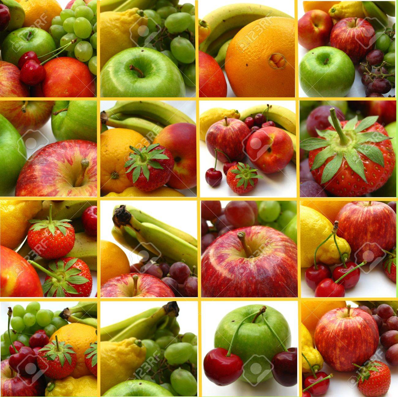 Fruit collage (greeting card, extra large file) Stock Photo - 4952491