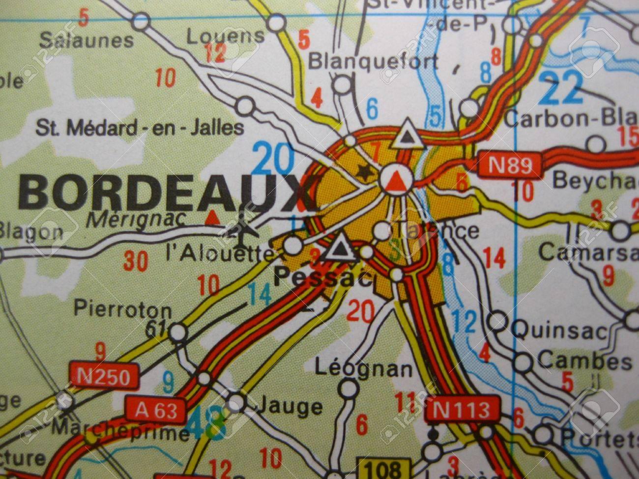 France map of bordeaux River Garonne