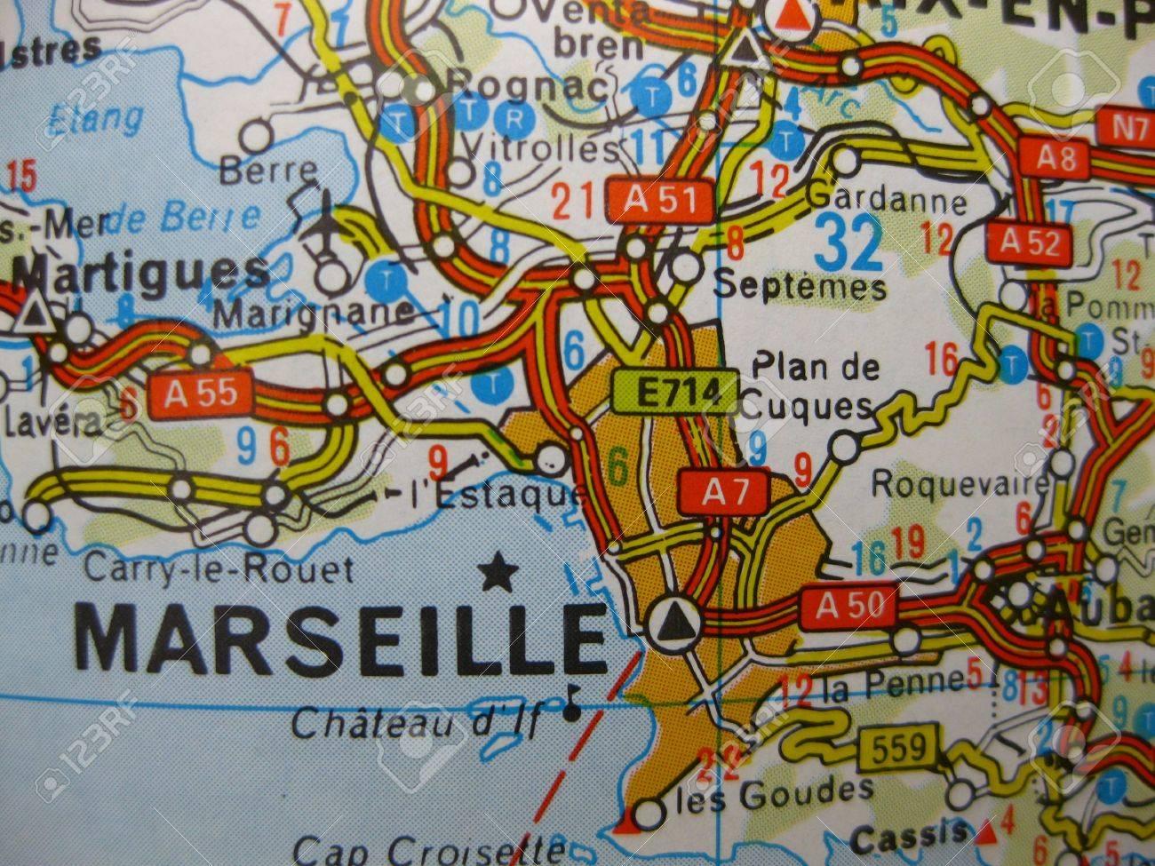 Europa En Siete Dias Mapa De Marsella Francia Fotos Retratos