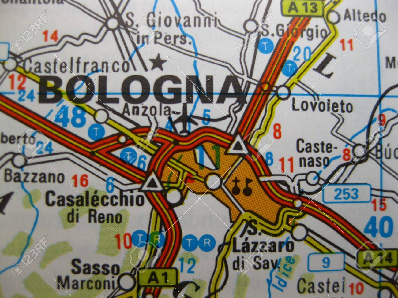 Bologna On Map Of Italy.Europe In Seven Days Map Of Bologna Italy