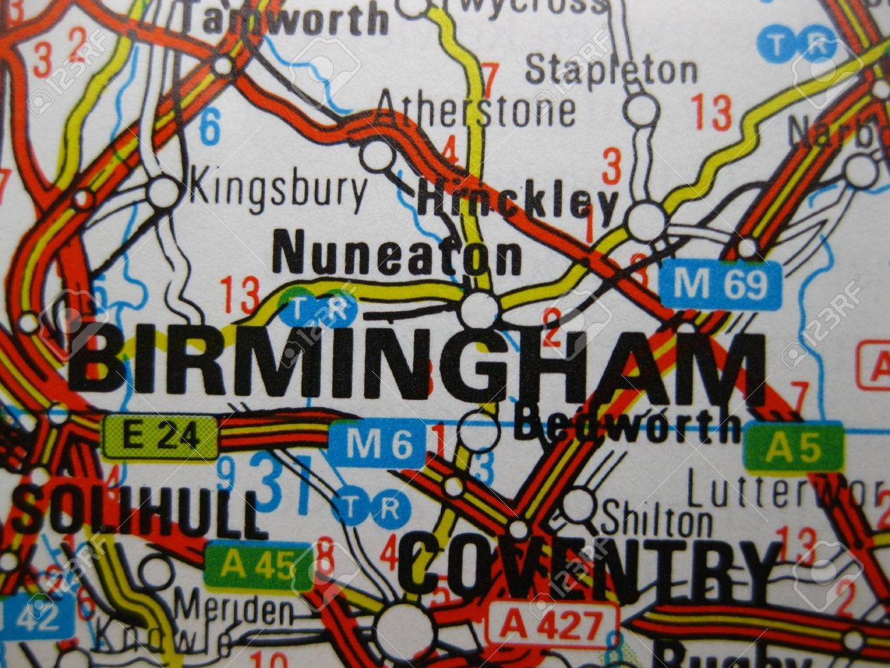 Map Of Birmingham England.Europe In Seven Days Map Of Birmingham England