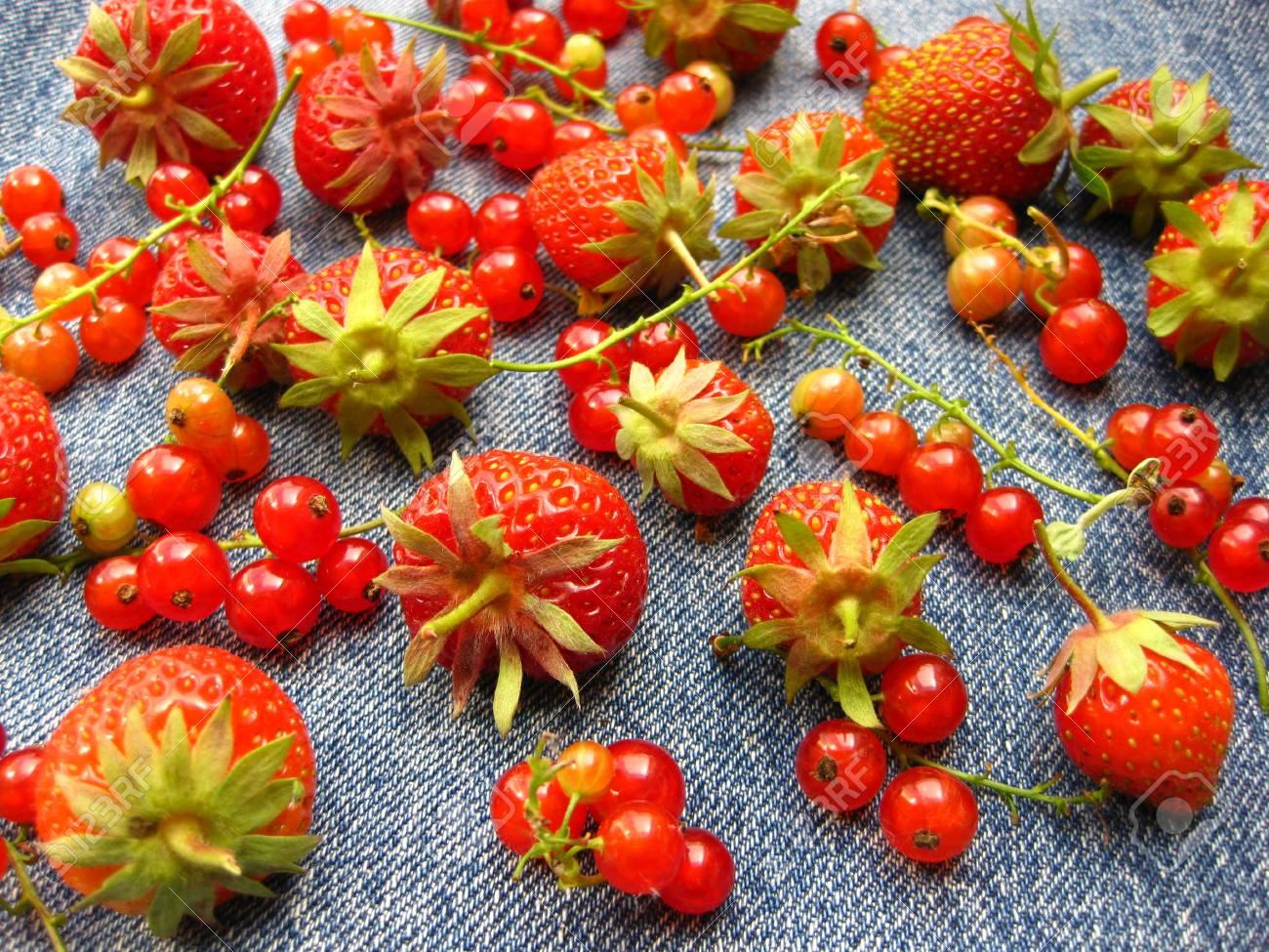 berries on blue Stock Photo - 5030817